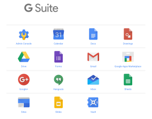 google-suite screen shot